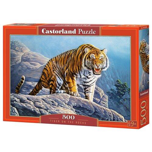 Фото - Пазл Castorland Тигр на скалах (B-53346), 500 дет. пазл castorland лето в альпах b 53360 500 дет