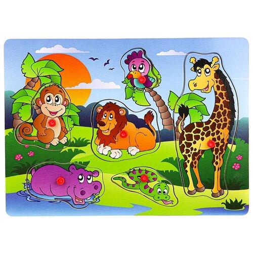 Купить Рамка-вкладыш Рыжий кот Жаркие страны (П-1026), 6 дет., Пазлы