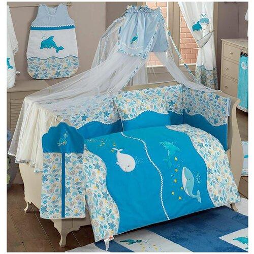 Купить Комплект Kidboo из 6 предметов серии Sea Life (Blue), Постельное белье и комплекты