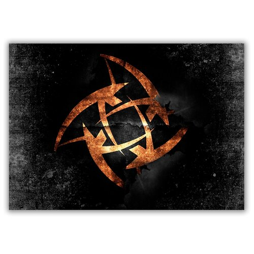 Магнит на холодильник большой - A4, Counter-Strike лого