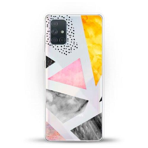 Силиконовый чехол Мраморные треугольники на Samsung Galaxy A71