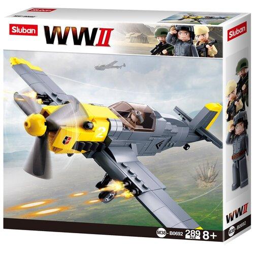 Фото - Конструктор SLUBAN WW2 М38-B0692 Военный самолет конструктор свадебный автобус 379дет sluban м38 в0769