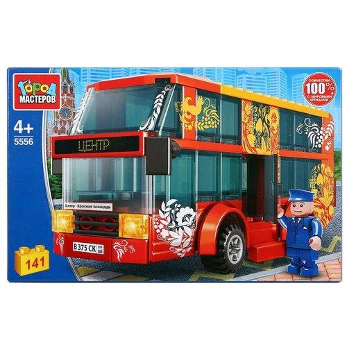 Фото - Конструктор ГОРОД МАСТЕРОВ Городской транспорт 5556 Двухэтажный автобус конструктор город мастеров городской транспорт 5556 двухэтажный автобус