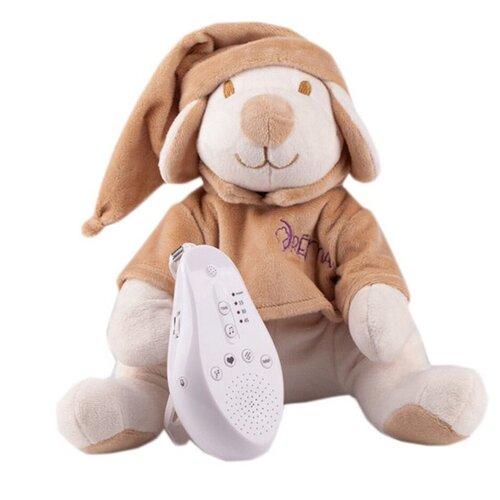 Фото - Мягкая игрушка Drёma BabyDou Собачка бежевая с белым и розовым шумом 20 см комфортеры drema babydou медведь с белым и розовым шумом 20 см