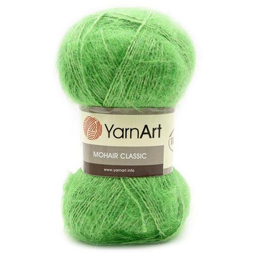 Купить Пряжа YarnArt 'Mohair' 100гр 220м (70% мохер, 30% акрил) (137 светло-зеленый), 5 мотков