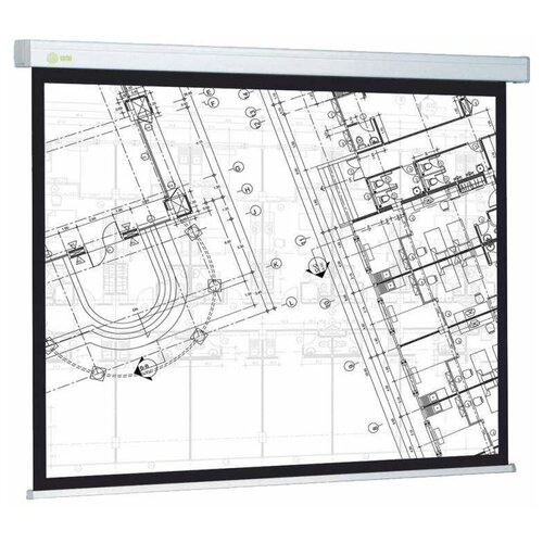 Рулонный матовый белый экран cactus Wallscreen CS-PSW-124x221