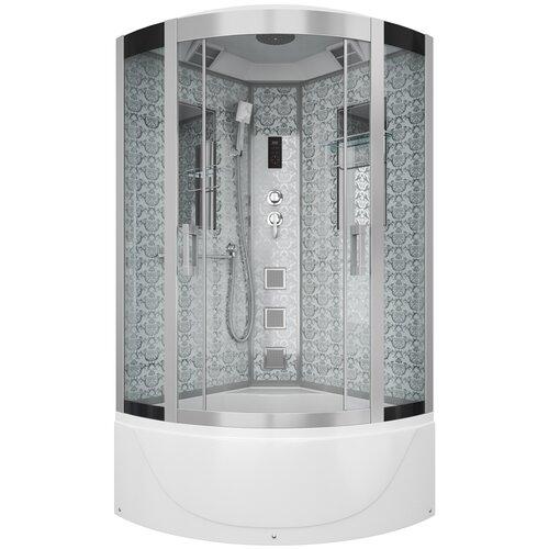 Душевая кабина Niagara Luxe NG-7790 высокий поддон 90см*90см белый прозрачное душевая кабина am pm like высокий поддон 90см 90см хром прозрачное