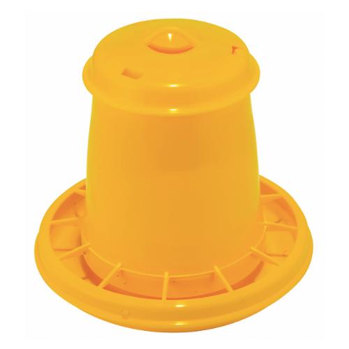 Кормушка бункерная для цыплят и перепелов Novital 2.5л, желтая
