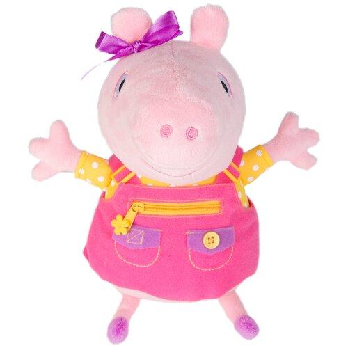 Мягкая игрушка РОСМЭН Peppa pig Пеппа учит одеваться 25 см