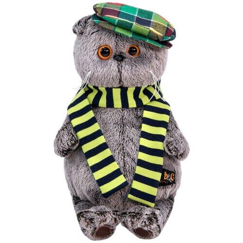 Мягкая игрушка Basik&Co Кот Басик в разноцветной кепке 19 см