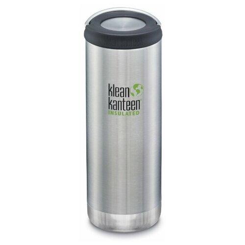 Термобутылка Klean Kanteen TKWide Loop Cap 16oz, 0.473 л серебристый