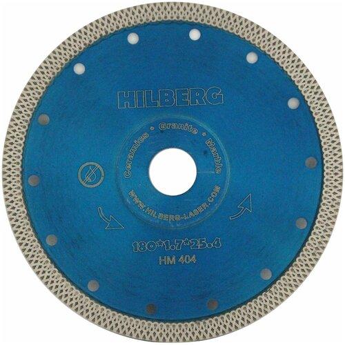 Диск алмазный 180 турбо ультратонкий Hilberg Х тип НМ404 по цене 1 989