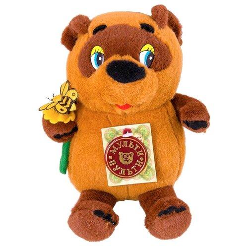 игрушка мягкая мульти пульти винни пух с цветком 25 см озвученный Мягкая игрушка Мульти-Пульти Винни-Пух с цветком 15 см, муз. чип