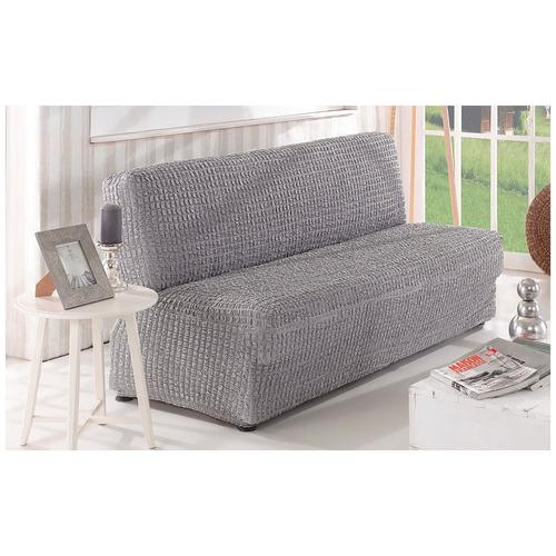 Фото - Чехол KARNA для двухместного дивана без подлокотников, серый чехол для двухместного дивана первый мебельный чехол для дивана стамбул двухместный без юбки