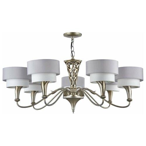 Люстра MAYTONI Lillian H311-07-G, E14, 280 Вт, кол-во ламп: 7 шт., цвет арматуры: серебристый, цвет плафона: серый