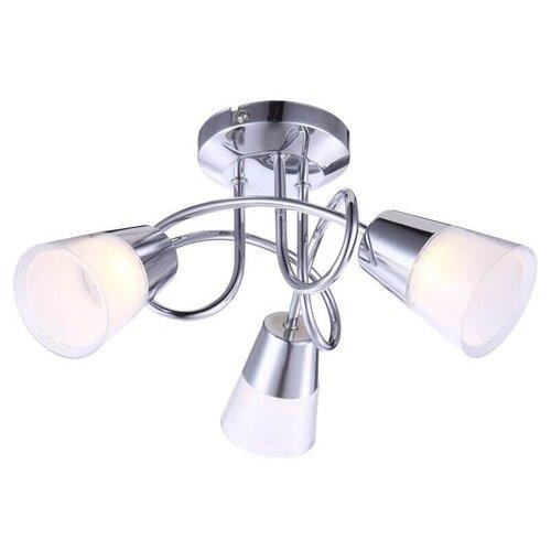 люстра светодиодная globo ina 12 вт 29 см цвет хром Люстра светодиодная Globo Lighting Tieka 56185-3D, LED, 9 Вт