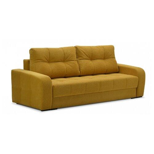 Диван Ладья Вестон-2 размер: 244х108 см, спальное место: 199х150 см, обивка: ткань, Dallas Yellow диван книжка ладья джаз серый