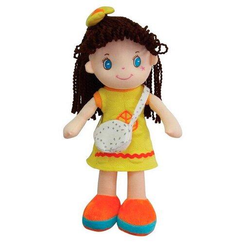 Фото - Мягкая игрушка ABtoys Кукла брюнетка в желтом платье 20 см мягкая игрушка abtoys кукла рыжая в голубом платье 20 см