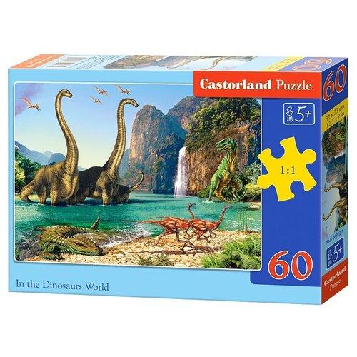 Пазл Castorland In the Dinosaurs World (B-06922), 60 дет. пазл castorland cute kittens b 066087 60 дет