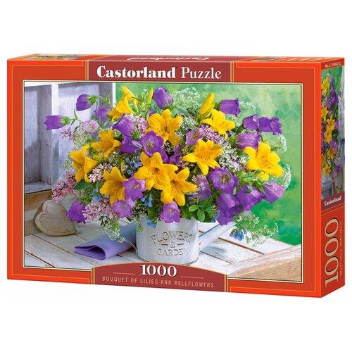 Пазл Castorland Букет с лилиями и колокольчиками (C-104642), 1000 дет.