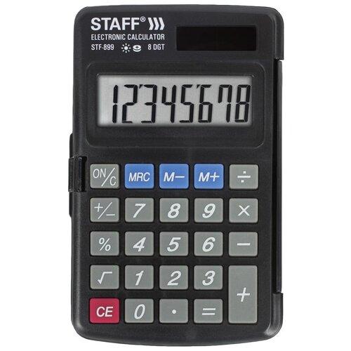 Калькулятор карманный STAFF STF-899 черный