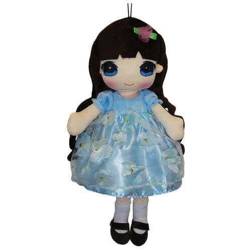 Фото - Мягкая игрушка ABtoys Кукла в голубом платье 50 см мягкая игрушка abtoys кукла рыжая в голубом платье 20 см