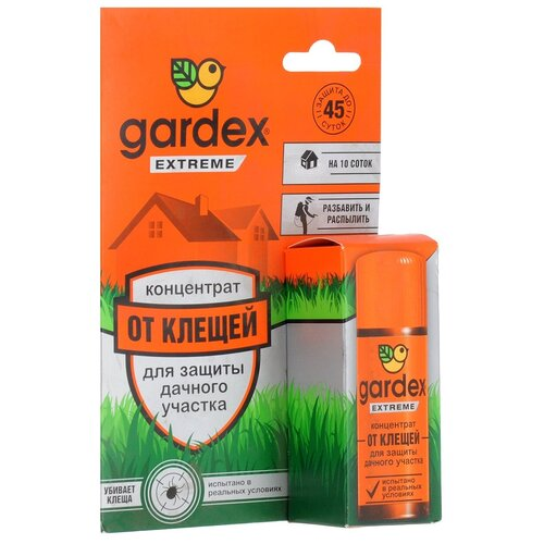 Жидкость Gardex Extreme для защиты дачного участка от клещей, 50 мл концентрат для защиты дачного участка от клещей gardex extreme 50 мл