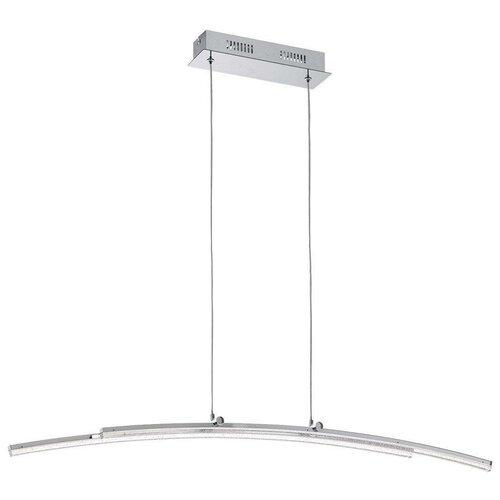 Потолочный светильник Eglo Pertini 96096, 21.6 Вт, цвет арматуры: хром, цвет плафона: бесцветный светильник светодиодный eglo pertini 96092 led 21 6 вт