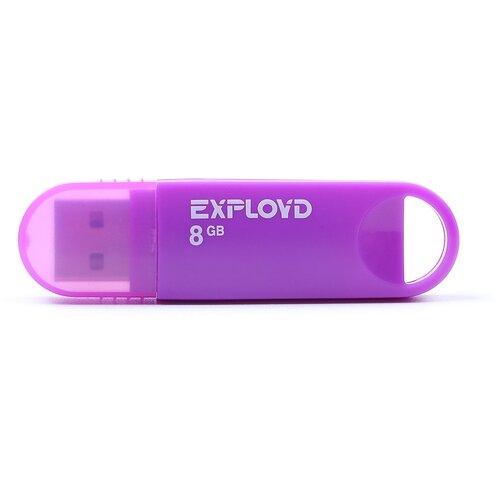 Фото - Флешка EXPLOYD 570 8 GB, purple флешка exployd 570 32gb blue