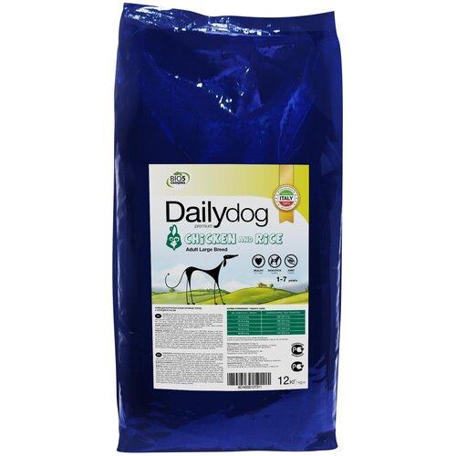 Сухой корм для собак DailyDog курица, с рисом 12 кг (для крупных пород) сухой корм для собак brooksfield курица с рисом 3 кг для крупных пород