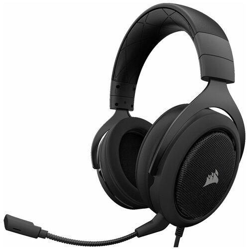 Фото - Компьютерная гарнитура Corsair HS50 Stereo Gaming Headset carbon компьютерная гарнитура corsair hs50 pro stereo gaming headset черный матовый