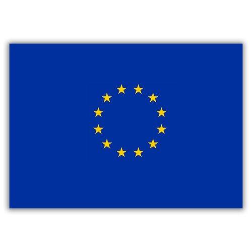 Магнит на холодильник большой - A4, Флаг Евросоюза
