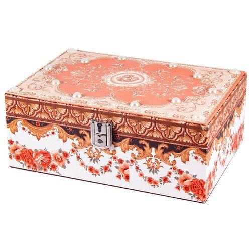 Русские подарки Шкатулка для ювелирных украшений 84334 красный русские подарки шкатулка для ювелирных украшений 79212 белый