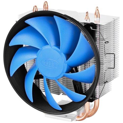 Кулер для процессора Deepcool GAMMAXX 300 серебристый/черный/голубой
