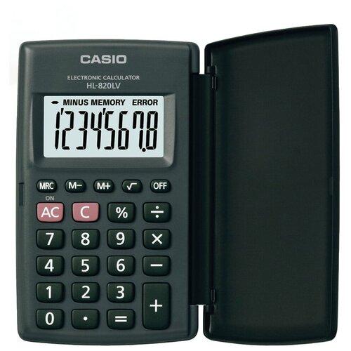 Калькулятор карманный CASIO HL-820LV-BK-S черный