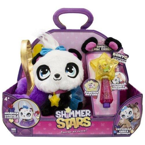 Мягкая игрушка Shimmer Stars панда Пикси с сумочкой 20 см