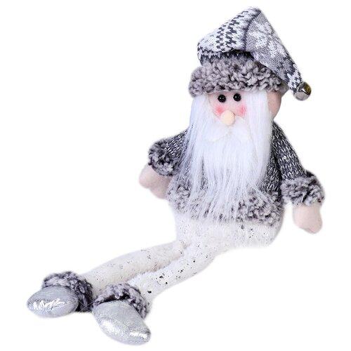 Мягкая игрушка Зимнее волшебство Дед Мороз с бубенчиком - длинные ножки 40 см