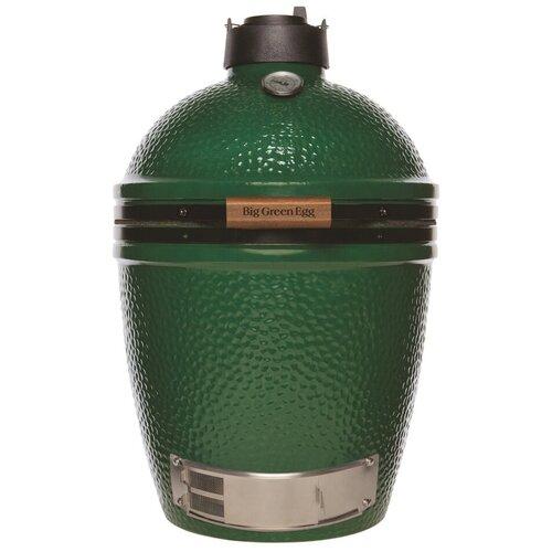 Фото - Угольный гриль Big Green Egg Medium EGG, зеленый big green egg гриль mini диаметр решетки 25 см alge1 ek mini big green egg
