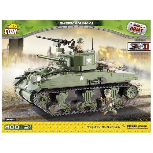 Фото - Конструктор Cobi Small Army World War II 2464 Средний танк Шерман М4А1 конструктор cobi small army world war ii 2188 амфибия vw typ 166 schwimmwagen