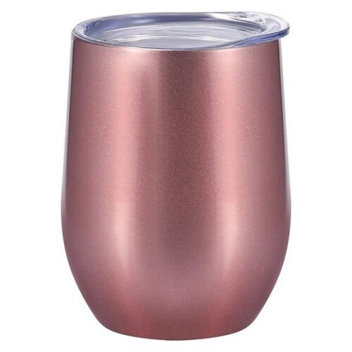 Удобная термокружка из двойной нержавеющей стали для горячих и холодных напитков (шоколадная), Blonder Home BH-WG-02