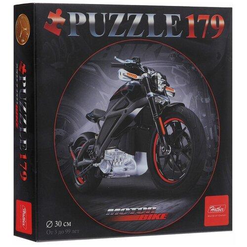 Пазл Hatber Черный мотоцикл (179ПЗк4_13407), 179 дет. пазл hatber черный мотоцикл 179пзк4 13407 179 дет