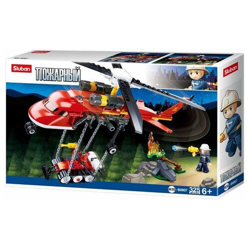 Конструктор SLUBAN Пожарный M38-B0807 Пожарный вертолет