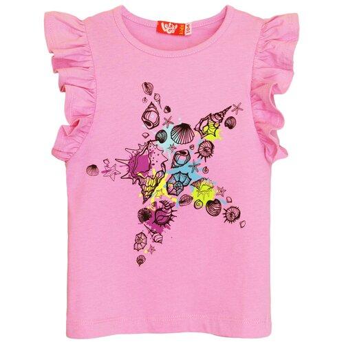 Купить 51176 Футболка для девочки светло-розовый, размер 104-56, Let's Go, Футболки и майки