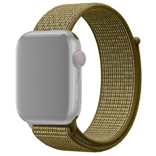 Ремешок для Apple Watch 1-6/SE нейлоновый 38/40 мм InnoZone - Оливково-зеленый (APWTNY38-06)