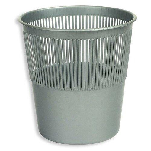 Корзина Attache для мусора, 10 л серый корзина для мусора сорренто 12л серый м2055 башкирия