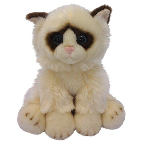 Купить Мягкая игрушка MaxiLife Котик сидячий бежево-коричневый 30 см, Мягкие игрушки