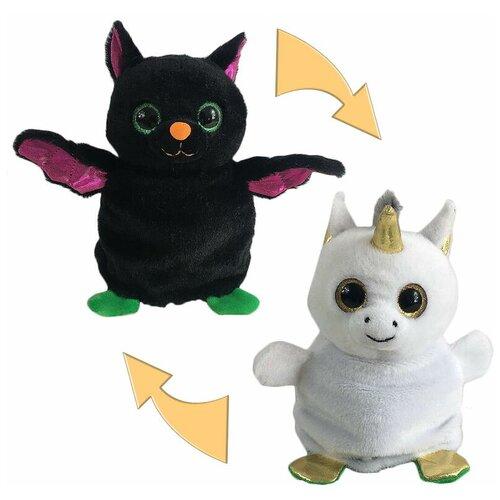 Мягкая игрушка Junfa Toys Перевертыши Мышка летучая/Единорог 16 см