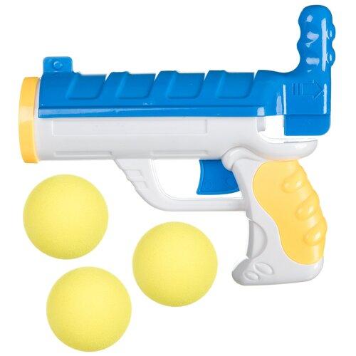 Фото - Оружие BONDIBON пистолет с 3 мягкими пулями, арт.M0422. (ВВ4454) игрушечное оружие bondibon оружие с мягкими пульками револьвер 2 в 1