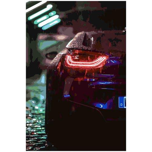 Купить Картина по номерам BMW i8, 80 х 120 см, Красиво Красим, Картины по номерам и контурам
