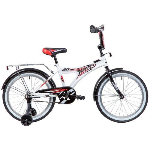 Фото - Детский велосипед Novatrack Turbo 20 (2019) белый (требует финальной сборки) детский велосипед novatrack urban 20 2019 синий требует финальной сборки